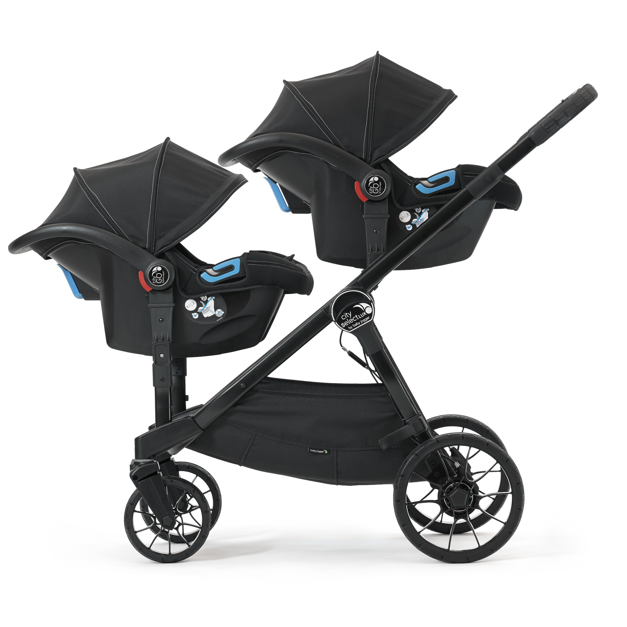 Baby Jogger City Select Tandem Double Stroller Black