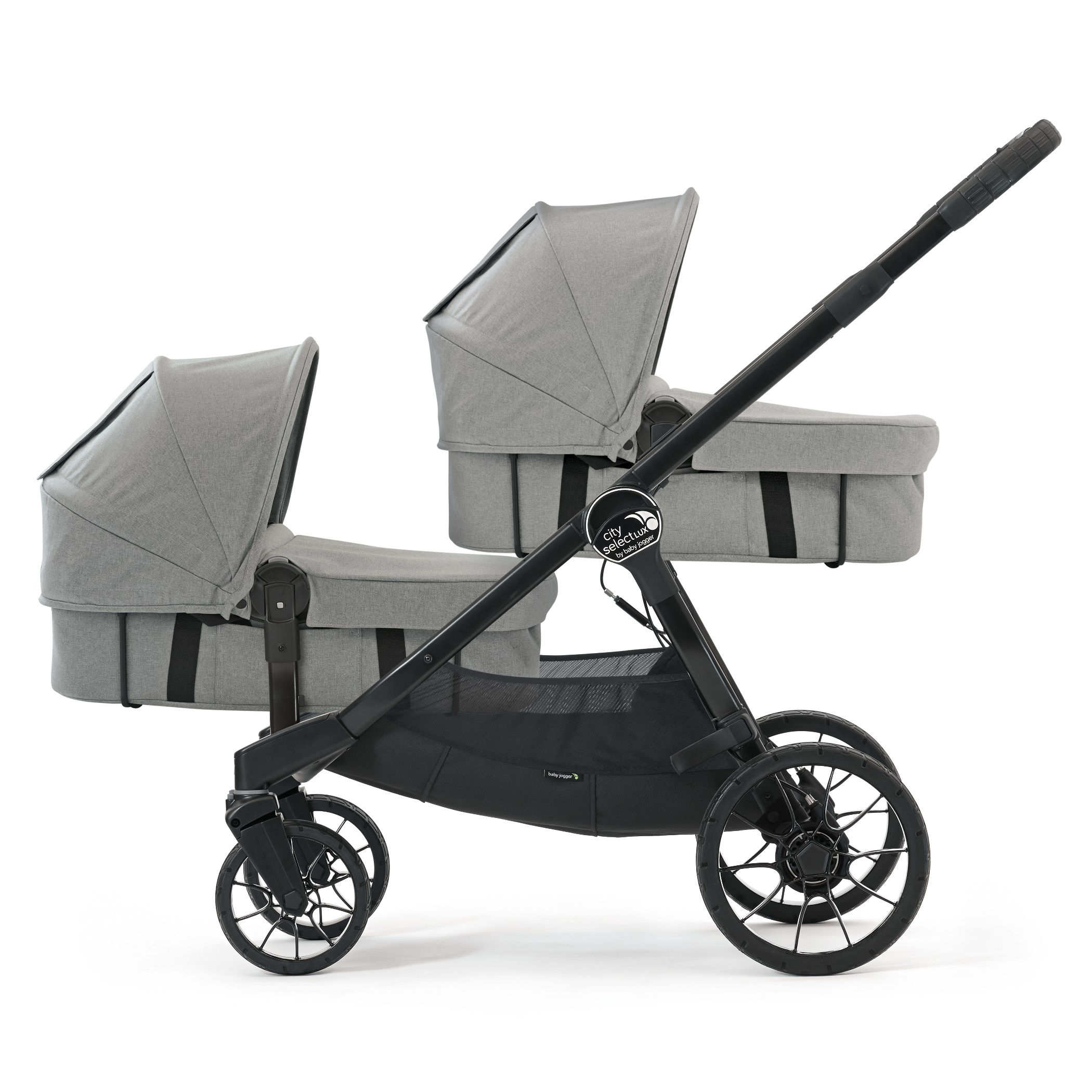 Baby Jogger City Select Lux Tandem Newborn Bundle Slate
