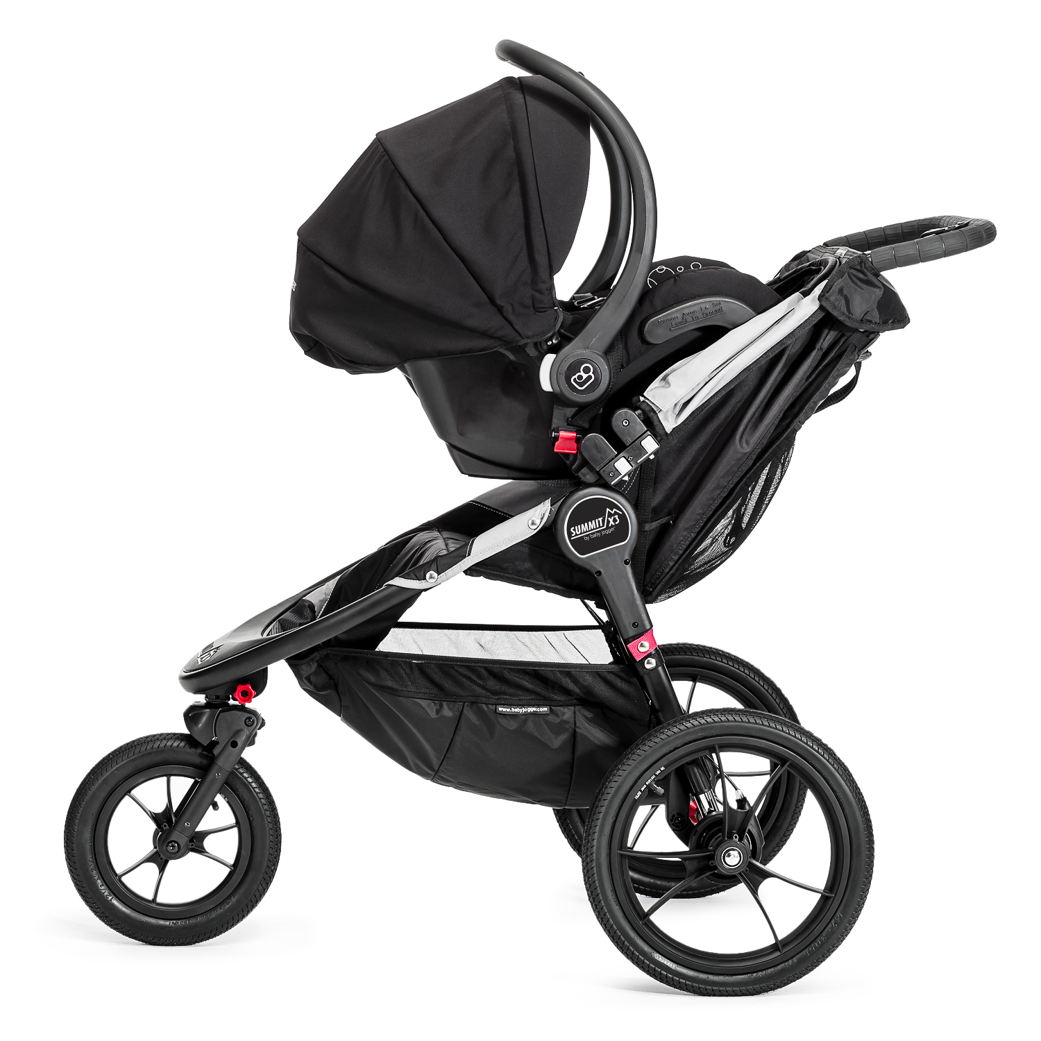 Baby Jogger Summit X3 Jogging Stroller Plus Accessories Black