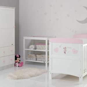 Obaby Disney Inspire Minnie Mouse 3 Piece Room Set and Changing Mat - Hearts