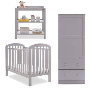 Obaby Lily 3 Piece Room Set - Warm Grey