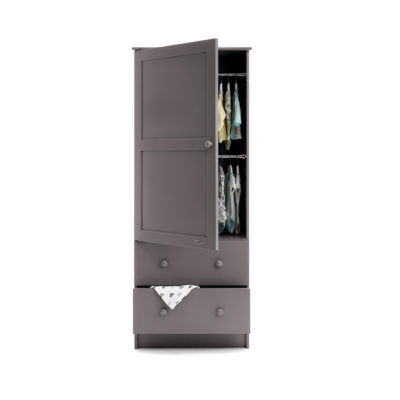 Obaby Single Wardrobe - Taupe Grey 2