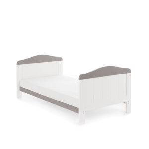 Obaby Whitby Cot Bed - White with Taupe Grey 5