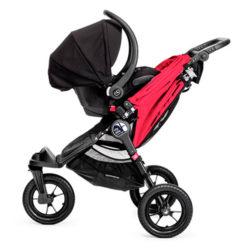 baby jogger city elite stroller red 2