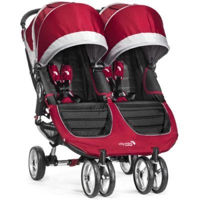 baby jogger city mini double crimson