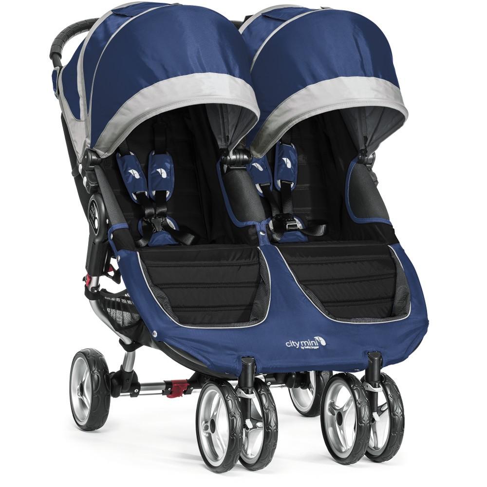 Baby Jogger City Mini Double Stroller Plus Accessories Cobalt Grey