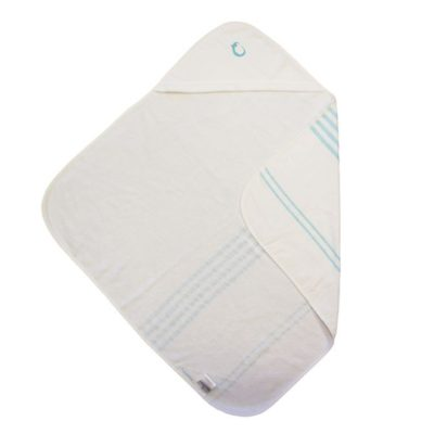 Hippychick Hammam Hooded Towel - Blue Stripe