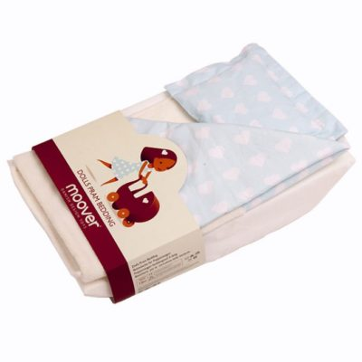 Moover Pram Bedding Set - Blue