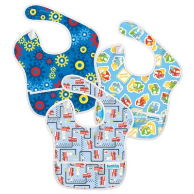 Hippychick Bumkins Super Bib Packs - Fire Engines, Gears, Construction