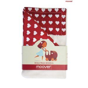 Moover Pram Bedding Set - Red