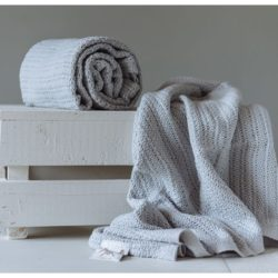 Abeille Cellular Blanket - Grey