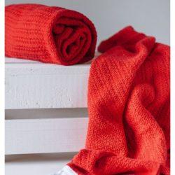 Abeille Cellular Blanket - Red