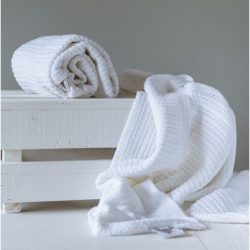 Abeille Cellular Blanket - White