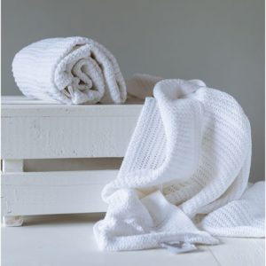 Abeille Cellular Blanket - White