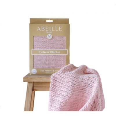 Abeille Cellular Blanket - Pink