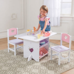 KidKraft Heart Table & Chair Set2