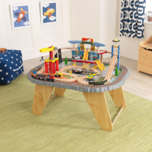 KidKraft Transportation Station Train Set and Table