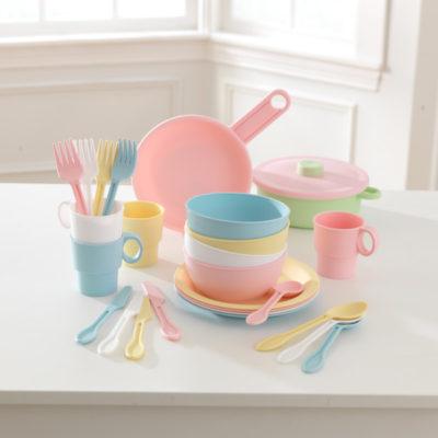 Kidkraft 27 Piece Cookware Pastel Playset