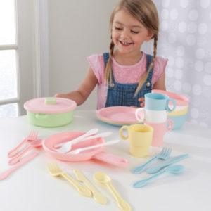 Kidkraft 27 Piece Cookware Playset - Pastel2