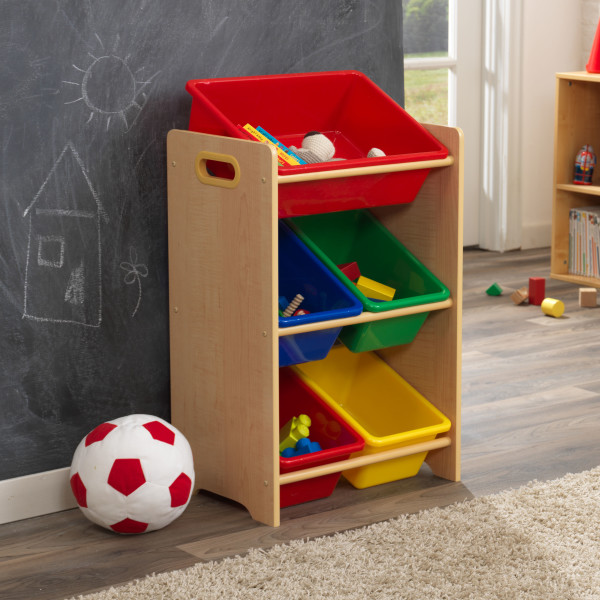 Wonderful Kidkraft 5 Bin Storage Unit   Primary U0026 Natural