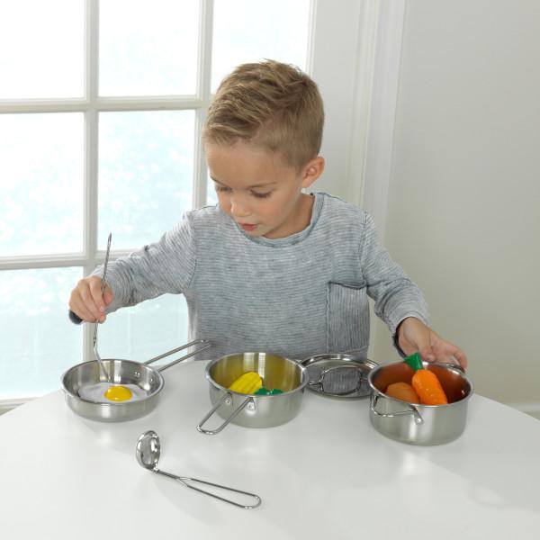Kidkraft Deluxe Cookware Toy Set 11 Pcs Kitchen Toys Set Kids