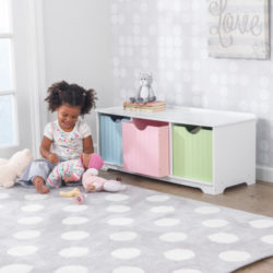 Kidkraft Nantucket Storage Bench Pastel3
