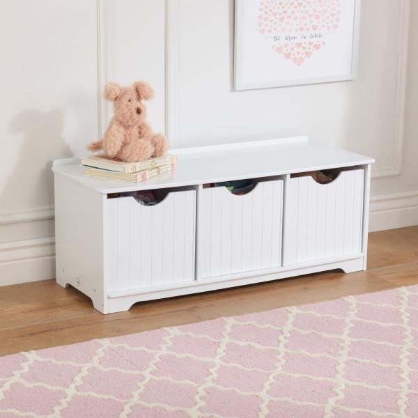 Enjoyable Kidkraft Nantucket Storage Bench White Dailytribune Chair Design For Home Dailytribuneorg