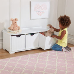 Kidkraft Nantucket Storage Bench White2
