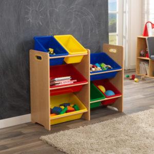 Kidkraft Primary 7 Bin Storage Unit - Natural