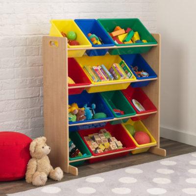 Kidkraft Primary Storage Bin Unit 12