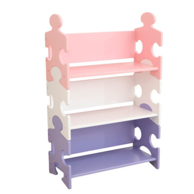 Kidkraft Puzzle Bookshelf - Pastel1