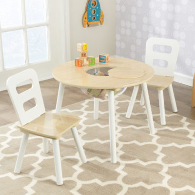 Kidkraft Natural Round Storage Table & Chairs