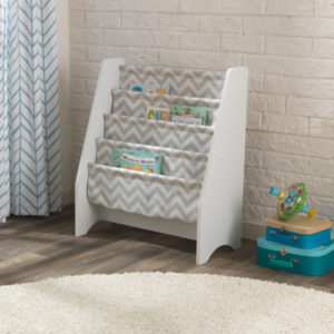 Kidkraft White Sling Bookshelf - Grey