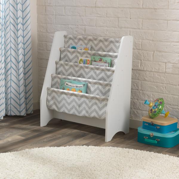 White Sling Bookcase: Kidkraft White Sling Bookshelf – Grey