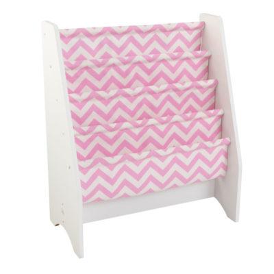 Kidkraft White Sling Bookshelf - Pink1