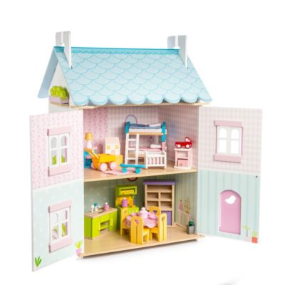 Le Toy Van Blue Bird Cottage (with furniture) 2