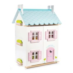Le Toy Van Blue Bird Cottage (with furniture)