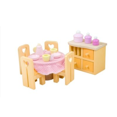 Le Toy Van Doll House Sugar Plum Dining Room Set