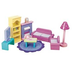 Le Toy Van Doll House Sugar Plum Sitting Room Set