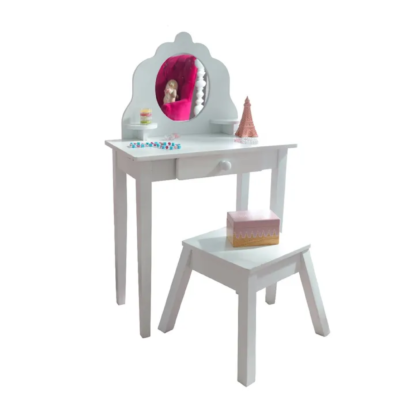 MEDIUM VANITY & STOOL - WHITE2