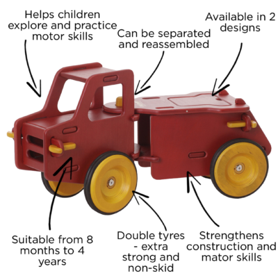 MOOVER RIDE-ON DUMP TRUCK red1