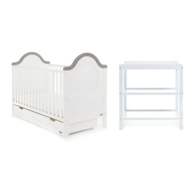 Obaby B is for Bear 2 Piece Room Set - White with Grey Trim