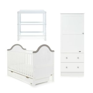 Obaby B is for Bear 3 Piece Room Set - White with Grey Trim