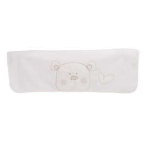 Obaby B is for Bear Appliqued Fleece Blanket - White