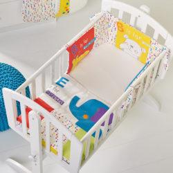 Obaby B is for Bear Crib Set - Happy Safari