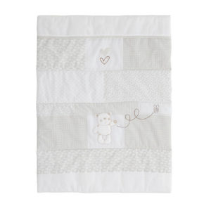 Obaby B is for Bear Hooded 3 Piece Crib Set - White