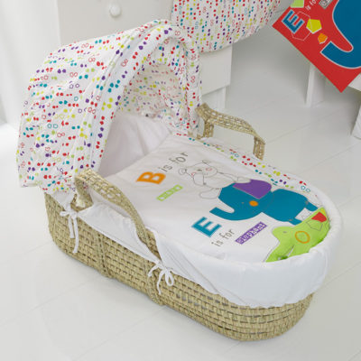Obaby B is for Bear Moses Basket - Happy Safari