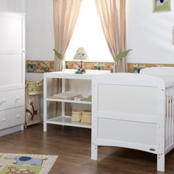 Obaby Grace 3 Piece Room Set - White