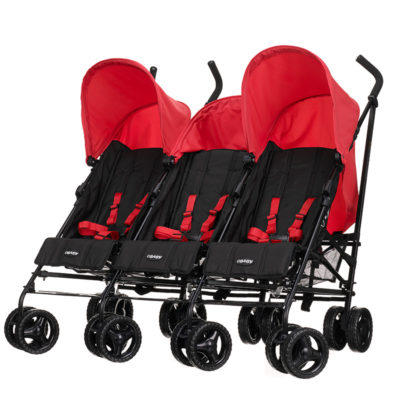 Obaby Mercury Triple Stroller - Blackred 3