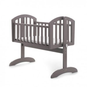 Obaby Sophie Swinging Crib and Mattress - Taupe Grey
